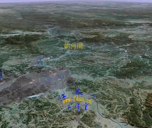 毛泽东祖坟(卫星全息拍照)龙脉形势风水分析